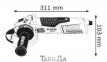 Угловая шлифмашина BOSCH GWS 19-125 CI 0
