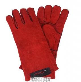 Перчатки сварщика краги Дніпро-М красные с подкладкой