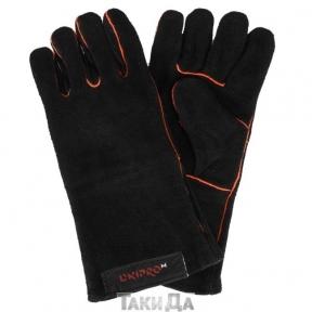 Перчатки сварщика краги Дніпро-М черные с подкладкой