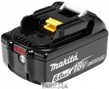 Аккумулятор Makita LXT BL1860B (18 В, 6 Ач)