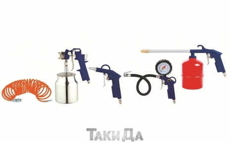 Набор пневмоинструмета Forte AT KIT-5G (5S)